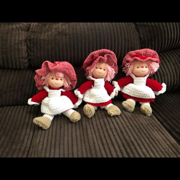 Other Handmade Crocheted Strawberry Shortcake Doll Poshmark